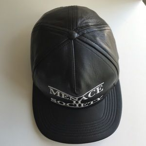 "ff2e11512d3 Supreme Accessories - Supreme Leather ""MENACE II SOCIETY"" SnapBack Hat"